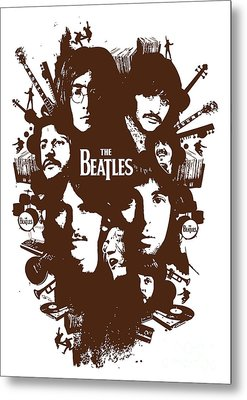 The Beatles No.15 Metal Print by Caio Caldas