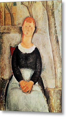 The Beautiful Grocer Metal Print by Amedeo Modigliani