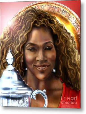 The Beauty Victory That Is Serena Metal Print by Reggie Duffie