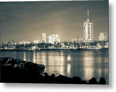 The Best Of Tulsa's Skyline From The River Metal Print by Gregory Ballos