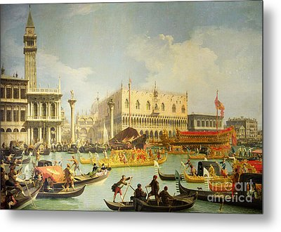 The Betrothal Of The Venetian Doge To The Adriatic Sea Metal Print by Canaletto