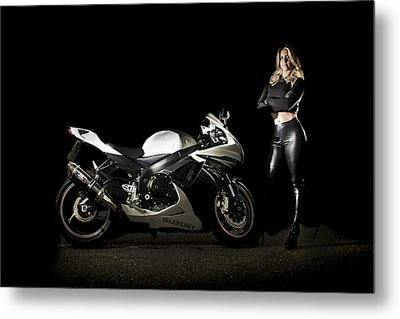 The Biker Metal Print by Paul Neville
