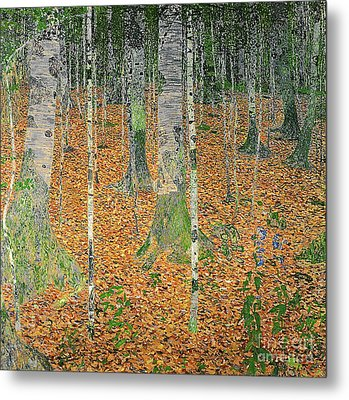 The Birch Wood Metal Print by Gustav Klimt