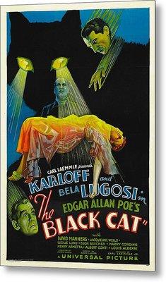 The Black Cat, Boris Karloff, Harry Metal Print by Everett