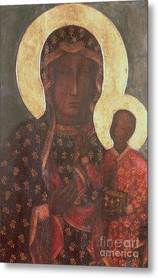 The Black Madonna Of Jasna Gora Metal Print by Russian School