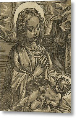 The Blessed Virgin Metal Print by Andrea Andreani