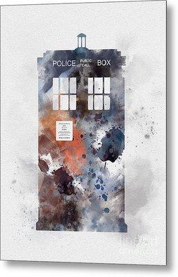 The Blue Box Metal Print by Rebecca Jenkins