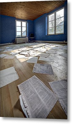 The Blue Office Abandoned - Urban Exploration Metal Print by Dirk Ercken