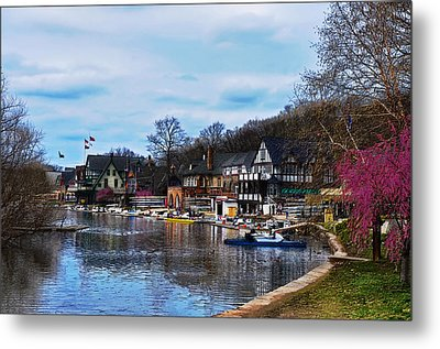 The Boat House Row Metal Print by Bill Cannon