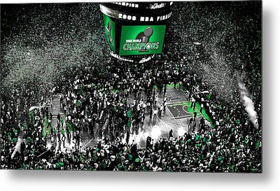 The Boston Celtics 2008 Nba Finals Metal Print by Brian Reaves