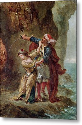 The Bride Of Abydos Metal Print by Ferdinand Victor Eugene Delacroix