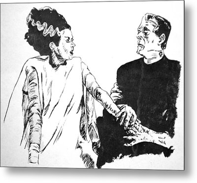 The Bride Of Frankenstein Metal Print by Bryan Bustard