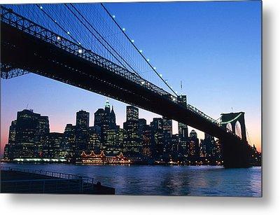 The Brooklyn Bridge Metal Print by American School