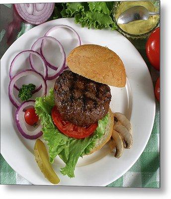 The Burger 2 Metal Print by Jack Dagley