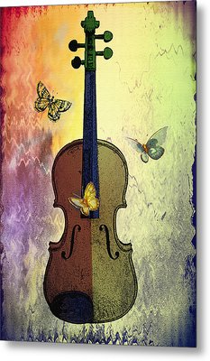 The Butterflies And The Violin Metal Print by Bill Cannon