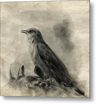 The Call Of The Mockingbird Metal Print by Jai Johnson