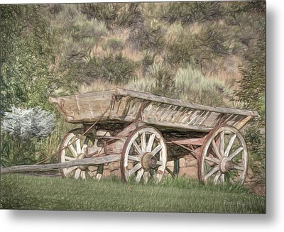 The Cart Before The Horse Metal Print by Donna Kennedy
