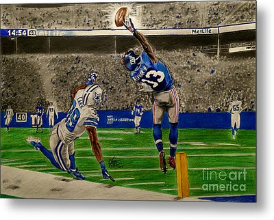 The Catch - Odell Beckham Jr. Metal Print by Chris Volpe