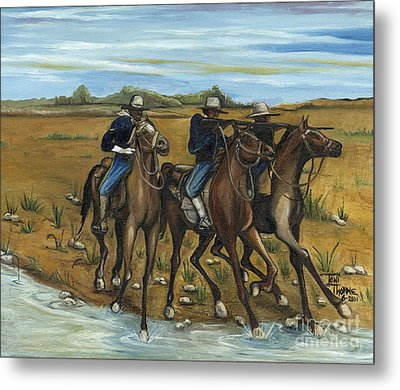The Cavalry Metal Print by Toni  Thorne