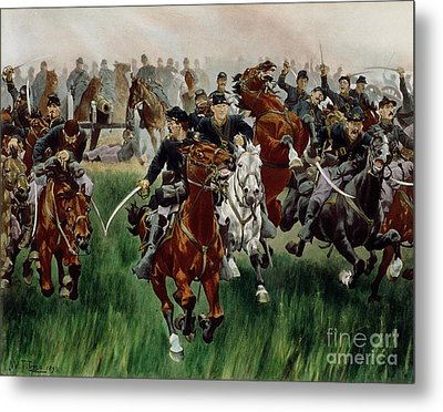 The Cavalry Metal Print by WT Trego
