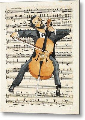 The Cellist Metal Print by Paul Helm