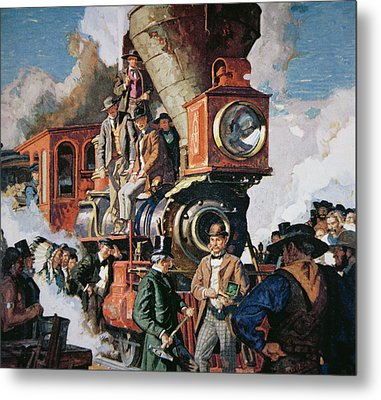The Ceremony Of The Golden Spike On 10th May Metal Print by Dean Cornwall