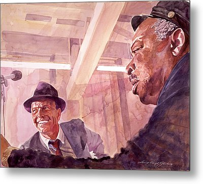 The Chairman Meets The Count Metal Print by David Lloyd Glover