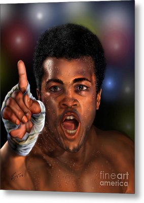 The Champ Is Here -period Metal Print by Reggie Duffie