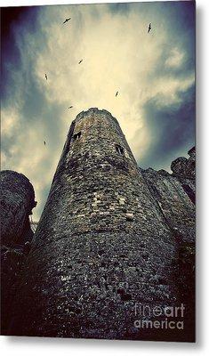 The Chapel Tower Metal Print by Meirion Matthias