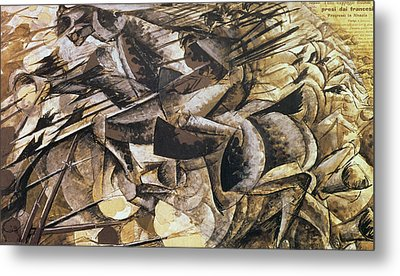The Charge Of The Lancers Metal Print by Umberto Boccioni