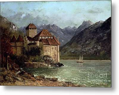 The Chateau De Chillon Metal Print by Gustave Courbet