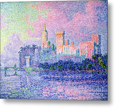 The Chateau Des Papes Metal Print by Paul Signac