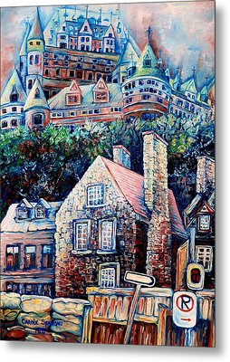 The Chateau Frontenac Metal Print by Carole Spandau
