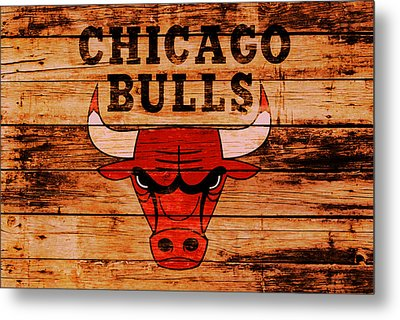 The Chicago Bulls 2w Metal Print by Brian Reaves