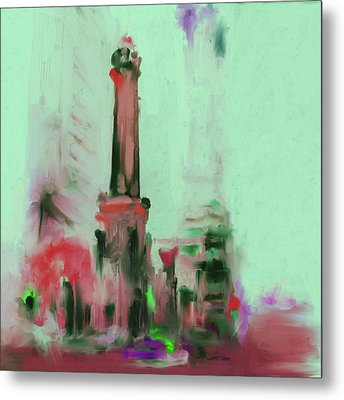 The Chicago Water Tower 535 4 Metal Print by Mawra Tahreem