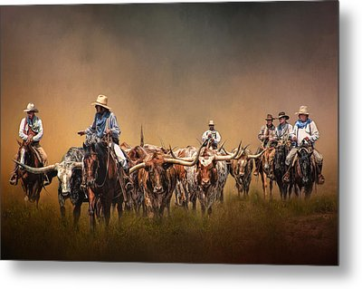 The Chisolm Trail Metal Print by David and Carol Kelly