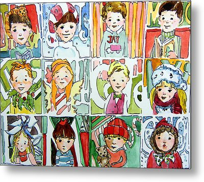 The Christmas Cousins Metal Print by Mindy Newman