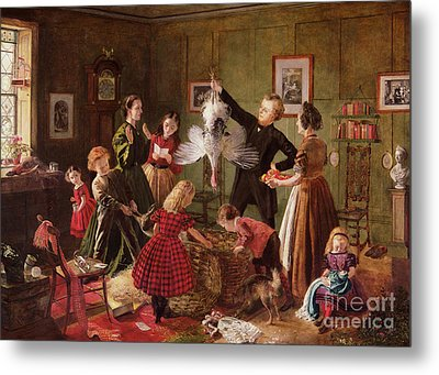 The Christmas Hamper Metal Print by Robert Braithwaite Martineau