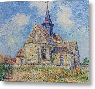 The Church At Porte-joie On The Eure Metal Print by Gustave Loiseau