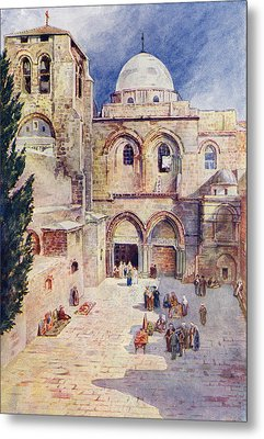 The Church Of The Holy Sepulchre Metal Print by Vintage Design Pics