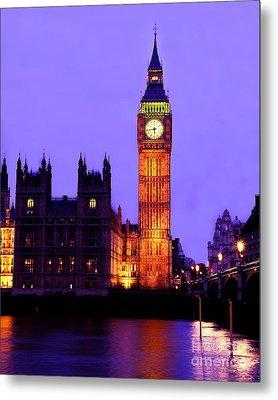 The Clock Tower Aka Big Ben Parliament London Metal Print by Chris Smith