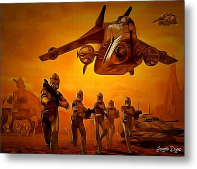 The Clone Wars - Da Metal Print by Leonardo Digenio