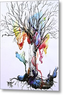 The Colour Tree Metal Print by Haley Howard
