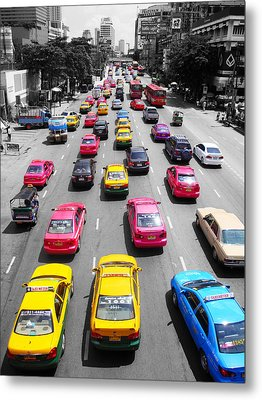 The Colours Of Bangkok Metal Print by Kelly Jones