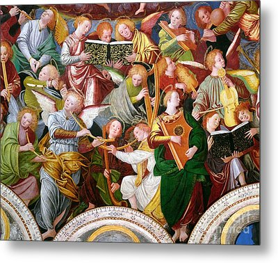 The Concert Of Angels Metal Print by Gaudenzio Ferrari