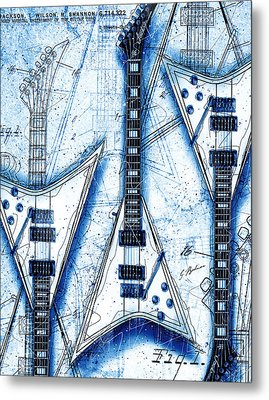 The Concorde Blueprint Metal Print by Gary Bodnar
