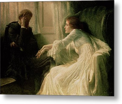 The Confession Metal Print by Sir Frank Dicksee