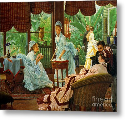 The Conservatory 1875 Metal Print by Padre Art