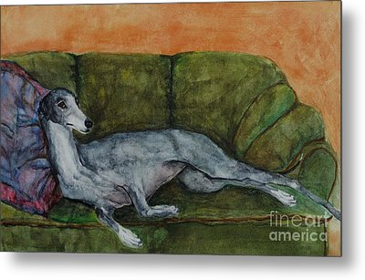 The Couch Potatoe Metal Print by Frances Marino