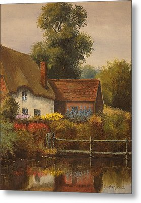 The Country Cottage Metal Print by Sean Conlon